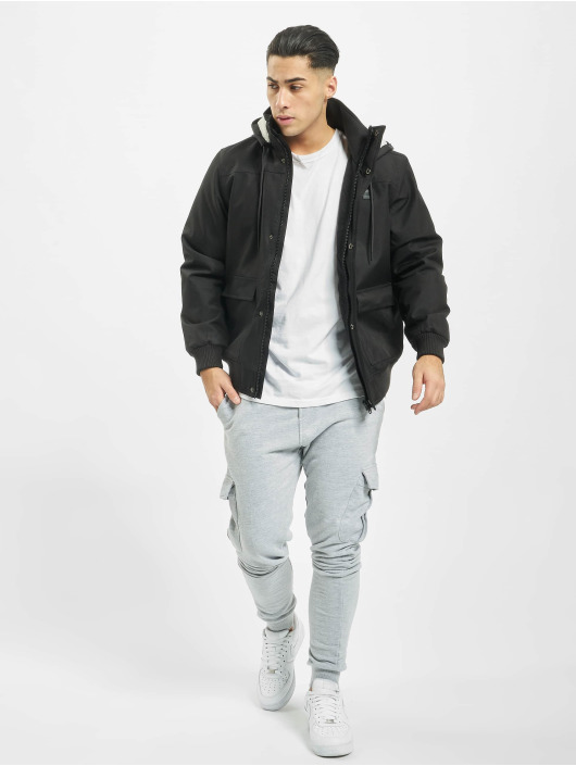 Urban Classics winterjas Heavy Hooded zwart
