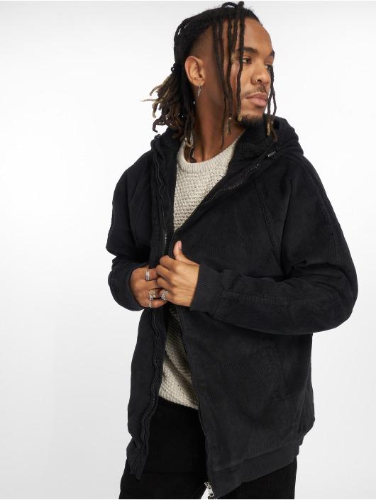 Urban Classics winterjas Hooded Corduroy zwart