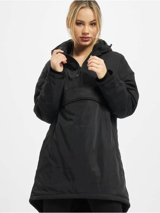 Urban Classics winterjas Ladies Long Oversized Pull Over zwart
