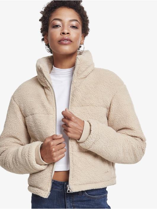 Urban Classics Zimní bundy Ladies Boxy Sherpa béžový