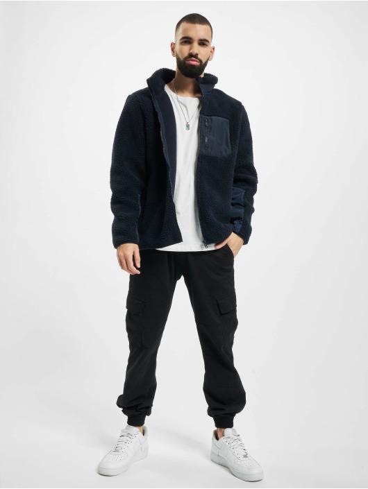 Urban Classics Zimní bundy Sherpa modrý
