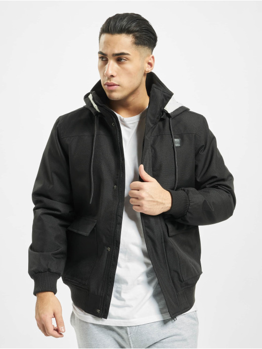 Urban Classics Zimné bundy Heavy Hooded èierna