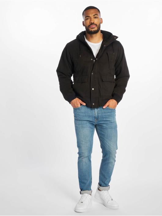 Urban Classics Zimné bundy Hooded Cotton èierna