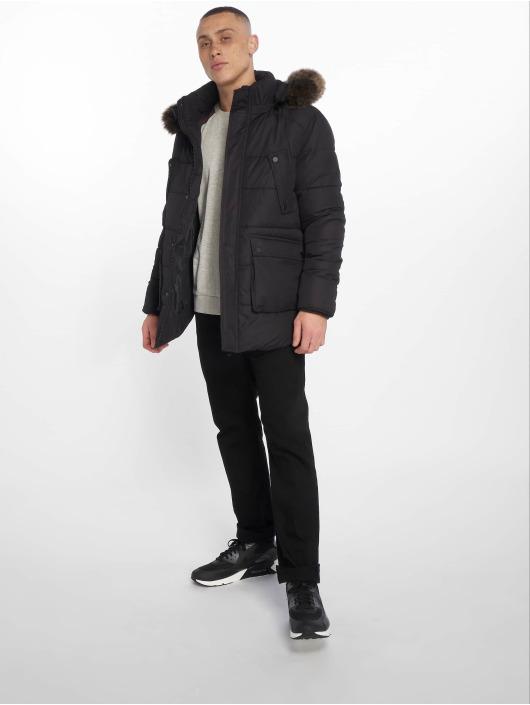 Urban Classics Zimné bundy Faux Fur èierna