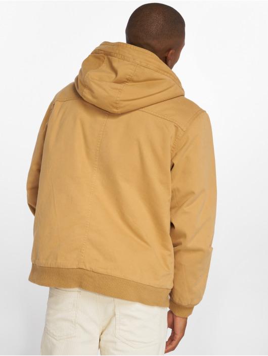 Urban Classics Zimné bundy Hooded Cotton hnedá