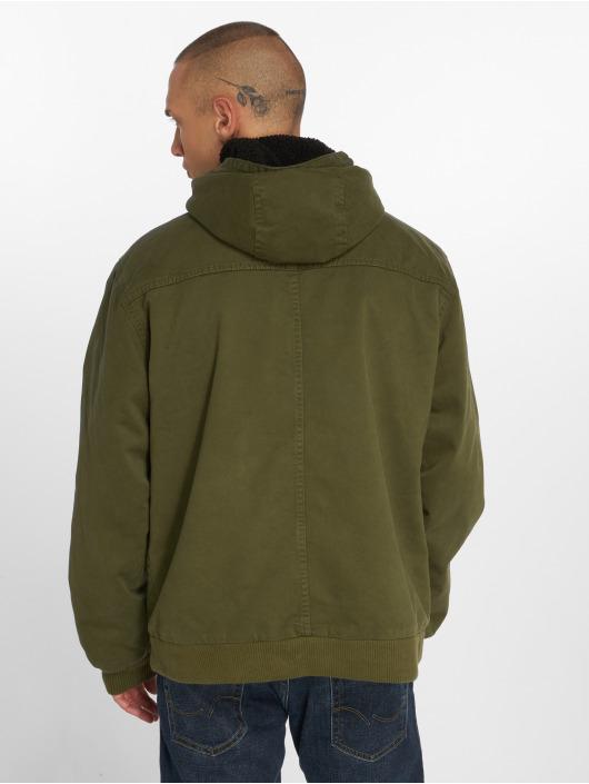 Urban Classics Zimné bundy Hooded olivová