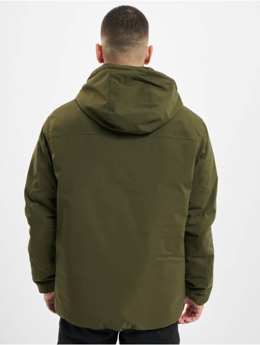 Urban Classics Zimné bundy Hooded Sporty olivová