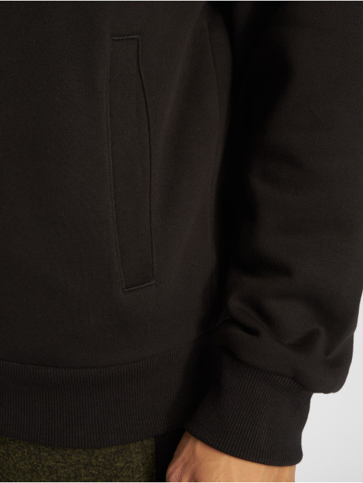 Urban Classics Zip Hoodie Sherpa Lined èierna