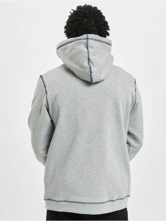 Urban Classics Zip Hoodie Organic Contrast Flatlock Stitched šedá
