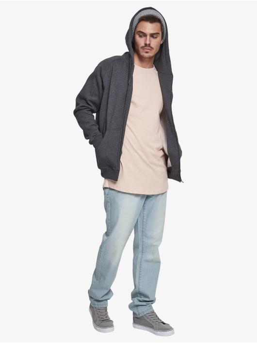 Urban Classics Zip Hoodie Blank šedá