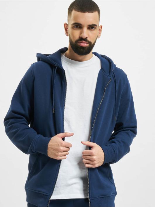 Urban Classics Zip Hoodie Basic Terry синий