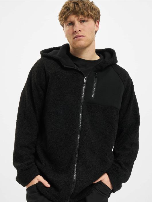Urban Classics Zip Hoodie Hooded Sherpa черный