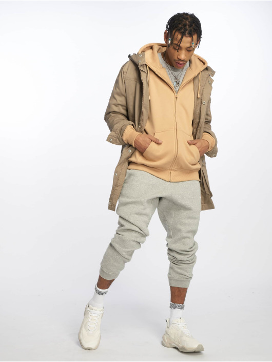 Urban Classics Zip Hoodie Blank béžová