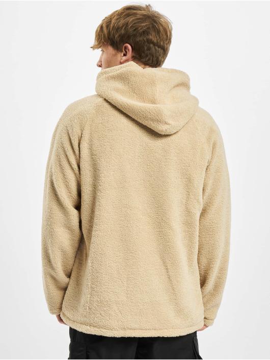 Urban Classics Zip Hoodie Hooded Sherpa béžový