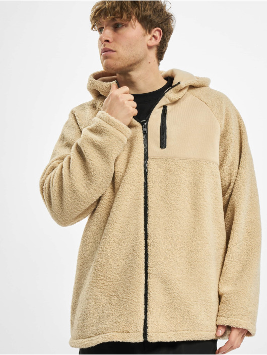 Urban Classics Zip Hoodie Hooded Sherpa beige