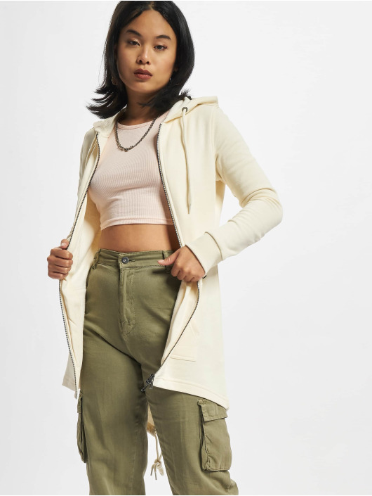 Urban Classics Zip Hoodie Ladies Sweat Parka beige