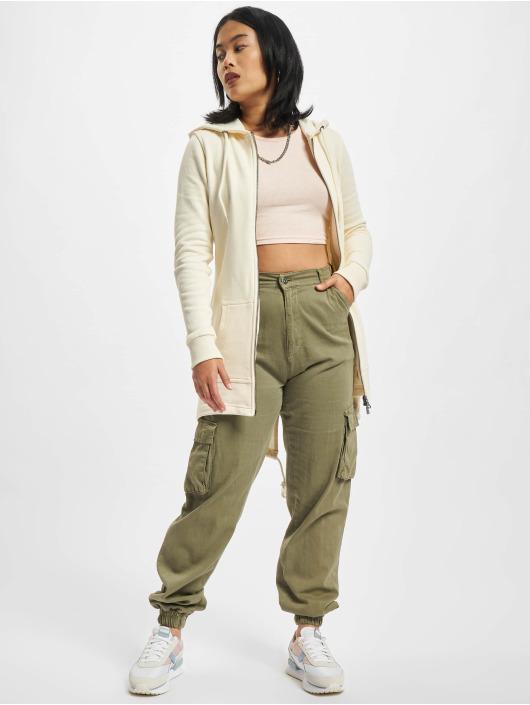 Urban Classics Zip Hoodie Ladies Sweat Parka bezowy