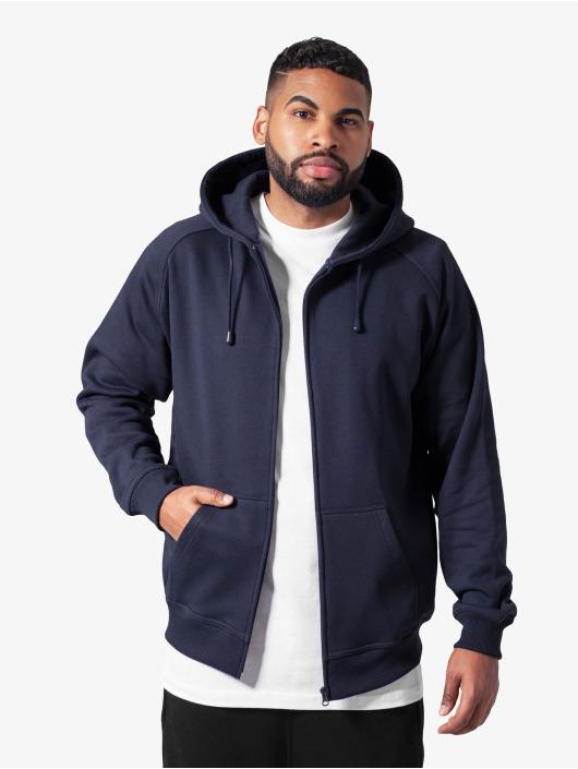 Urban Classics Zip Hoodie Blank blå