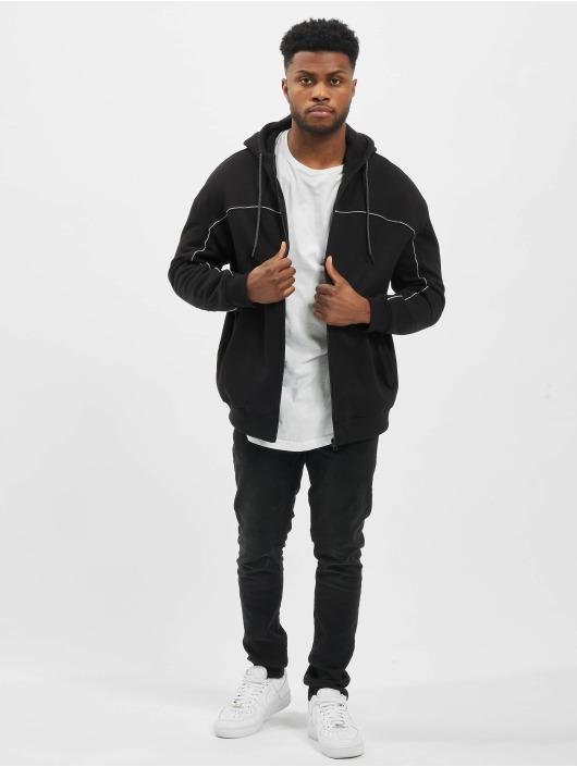 Urban Classics Zip Hoodie Reflective black