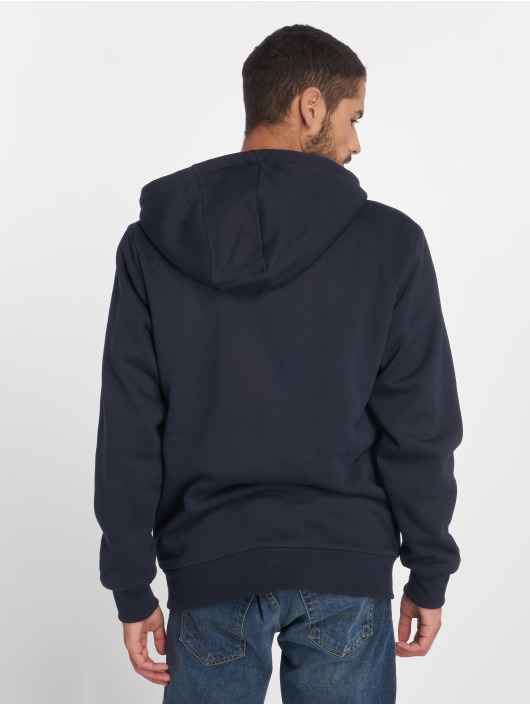 Urban Classics Zip Hoodie Sherpa Lined blau