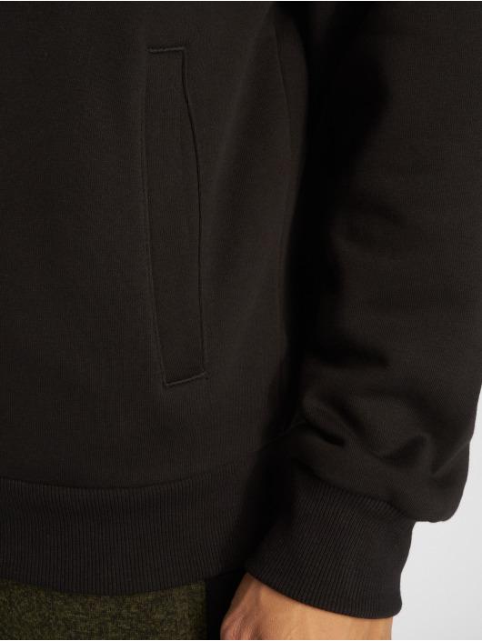 Urban Classics Zip Hoodie Sherpa Lined czarny