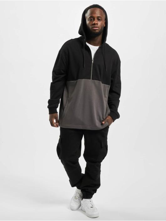 Urban Classics Zip Hoodie Relaxed Half czarny
