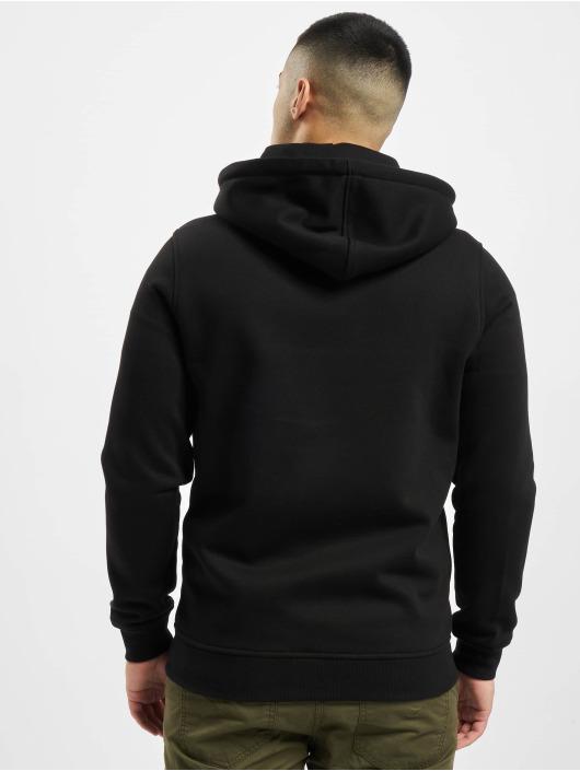 Urban Classics Zip Hoodie Contrast Drawstring czarny