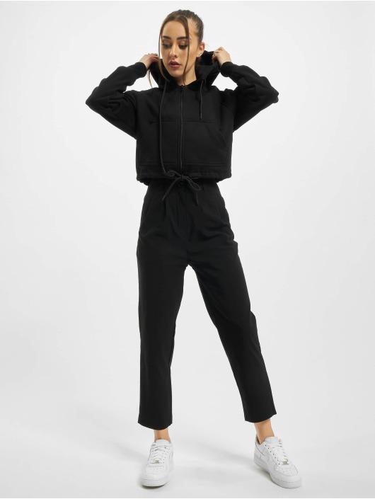 Urban Classics Zip Hoodie Ladies Oversized Short Raglan czarny