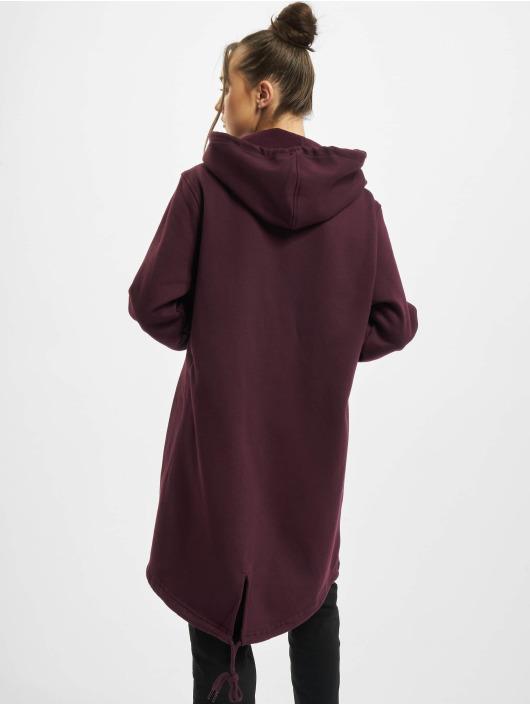 Urban Classics Zip Hoodie Ladies Sweat Parka czerwony