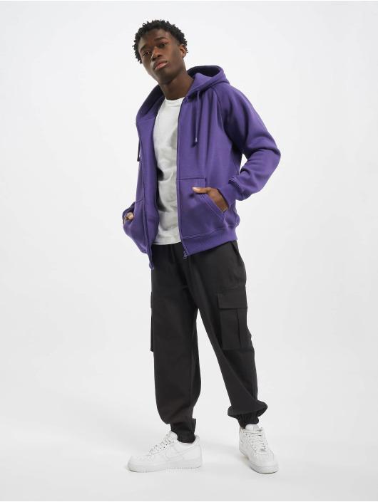 Urban Classics Zip Hoodie Blank fialová