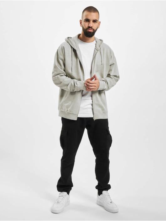 Urban Classics Zip Hoodie Oversized grå