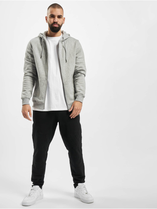 Urban Classics Zip Hoodie Basic grå