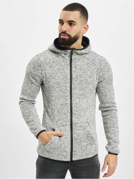 Urban Classics Zip Hoodie Knit Fleece grau
