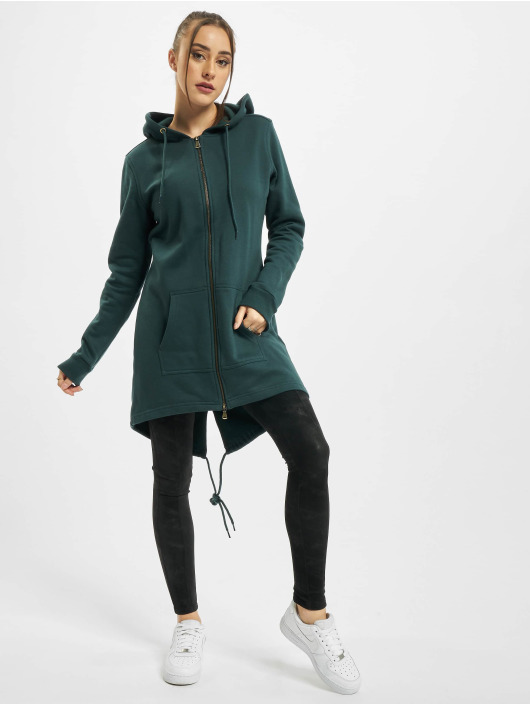 Urban Classics Zip Hoodie Ladies Sweat Parka green