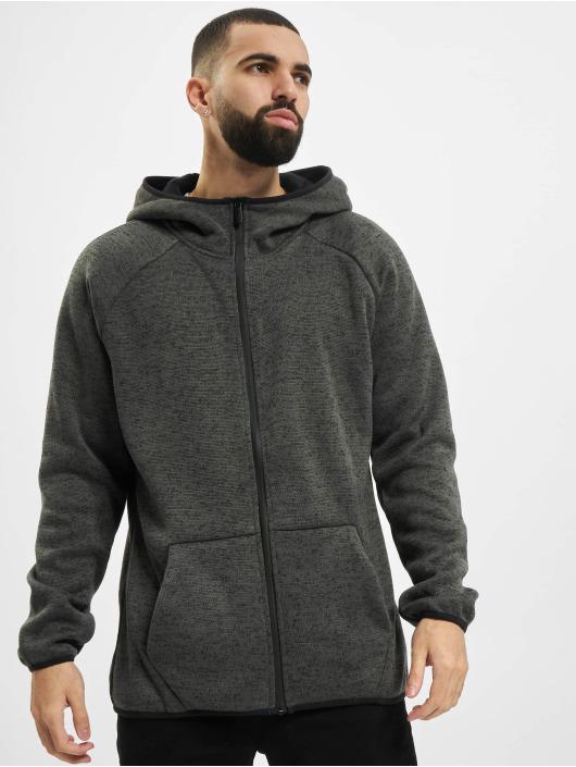 Urban Classics Zip Hoodie Knit Fleece grey