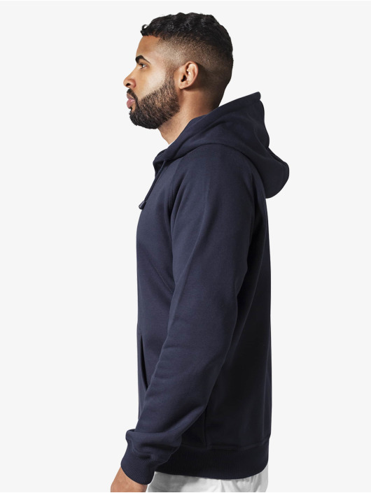 Urban Classics Zip Hoodie Blank modrý