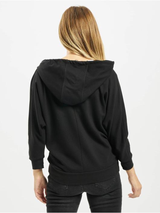 Urban Classics Zip Hoodie Ladies Bat 3/4 Sleeve schwarz