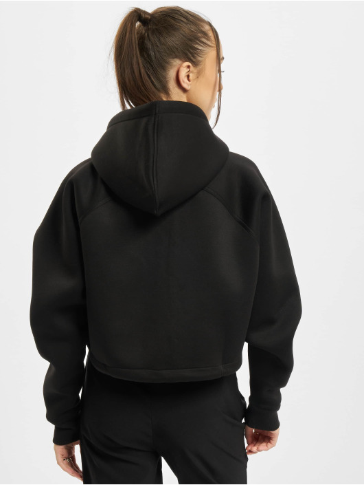 Urban Classics Zip Hoodie Ladies Oversized Short Raglan schwarz
