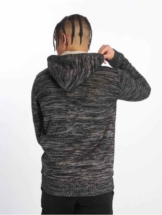 Urban Classics Zip Hoodie Winter Knit svart