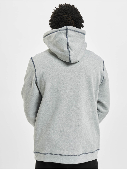 Urban Classics Zip Hoodie Organic Contrast Flatlock Stitched szary