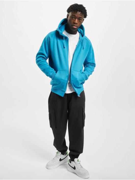 Urban Classics Zip Hoodie Blank turquoise