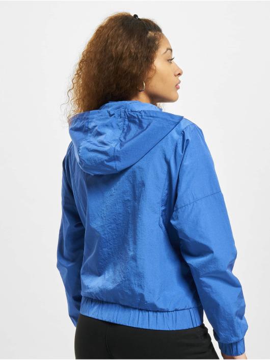 Urban Classics Zomerjas Oversized Shiny Crinkle Nylon blauw