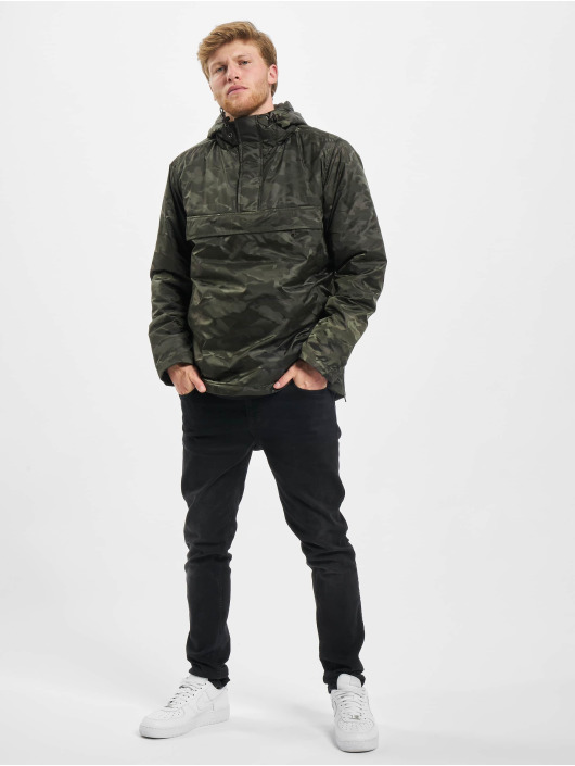 Urban Classics Zomerjas Padded Camo Pull Over camouflage