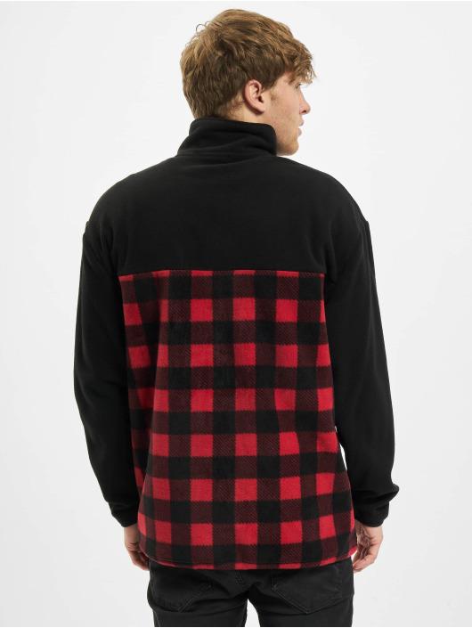 Urban Classics Zomerjas Patterned Polar Fleece Track zwart