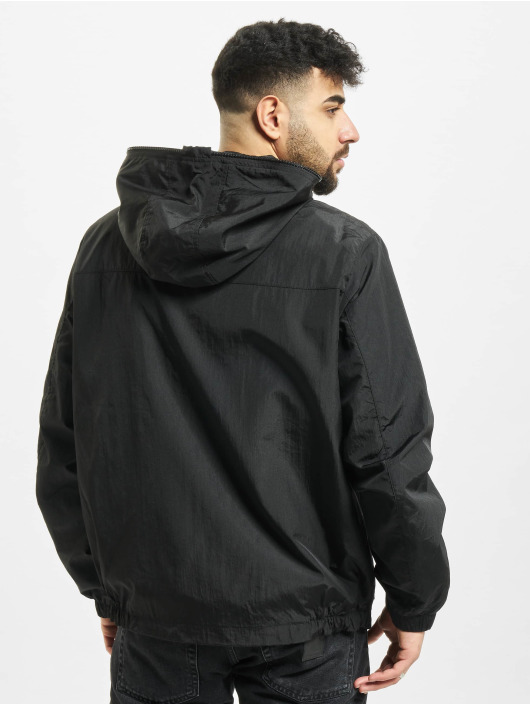Urban Classics Zomerjas Full Zip Nylon Crepe zwart