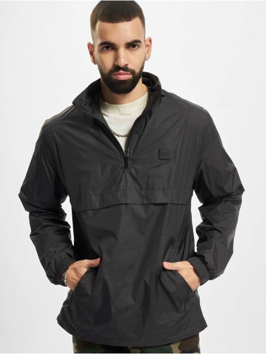 Urban Classics Zomerjas Stand Up Collar Pull Over zwart
