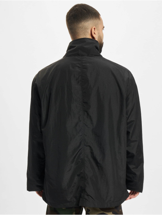 Urban Classics Zomerjas Double Pocket Nylon Crepe zwart
