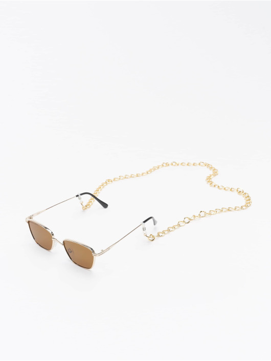Urban Classics Zonnebril Sunglasses Kalymnos With Chain goud