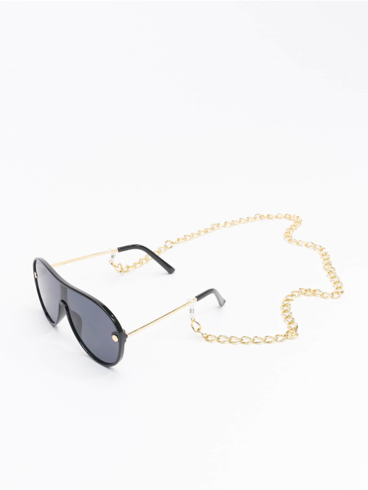 Urban Classics Zonnebril Sunglasses Naxos With Chain zwart