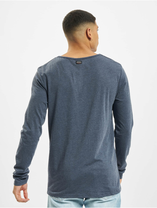 Urban Surface Maglietta a manica lunga Button blu